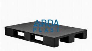 100×120 Düz Siyah Plastik Palet